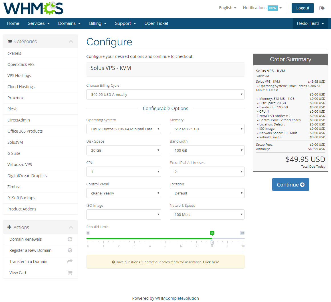 SolusVM Extended VPS For WHMCS: Screen 8