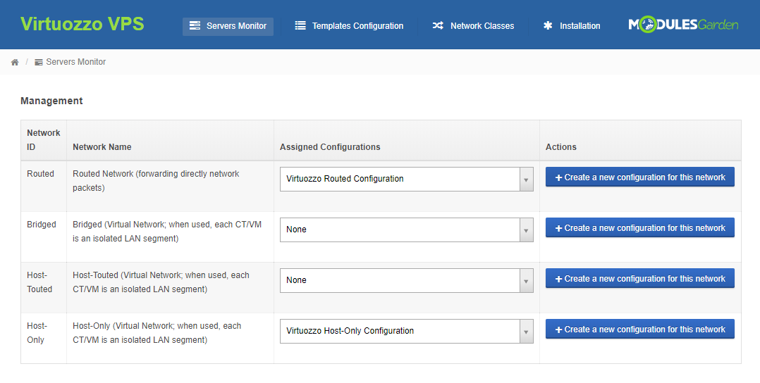 Virtuozzo VPS For WHMCS: Module Screenshot 12