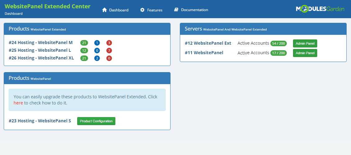 WebsitePanel Extended For WHMCS: Screen 9