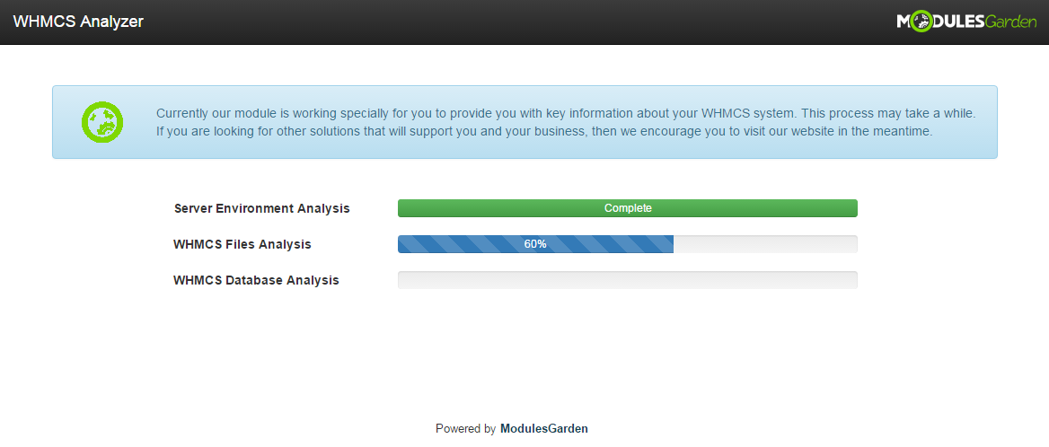 WHMCS Analyzer: Screen 3