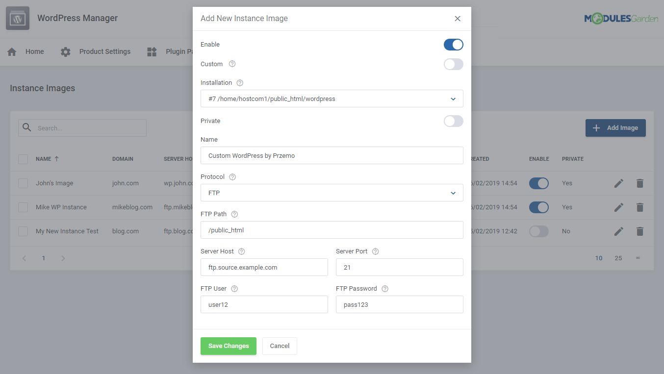 WordPress Manager For WHMCS: Module Screenshot 28
