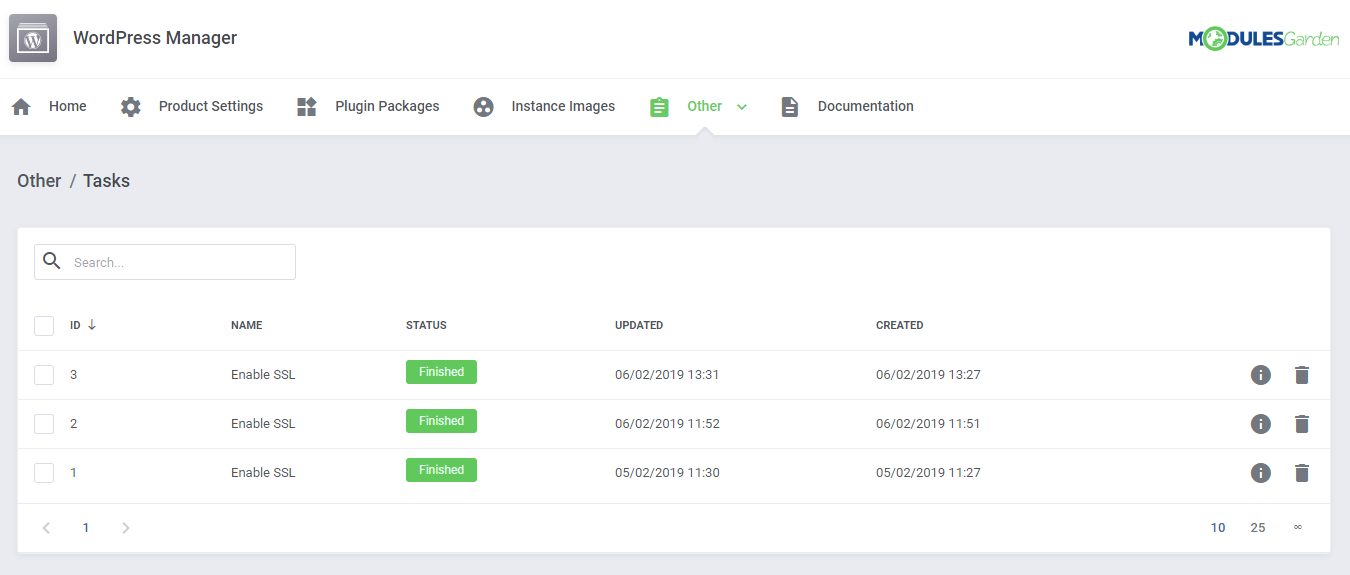 WordPress Manager For WHMCS: Module Screenshot 30