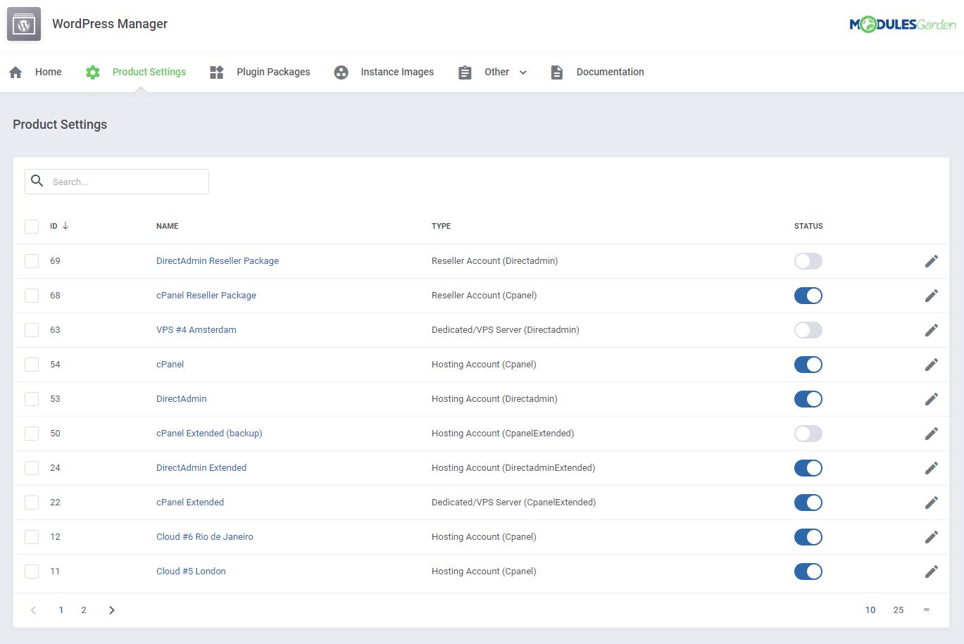 WordPress Manager For WHMCS: Module Screenshot 20