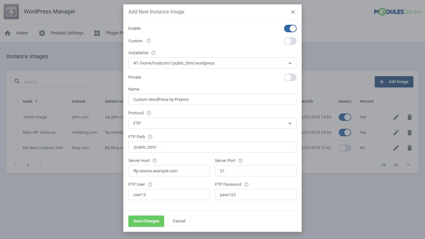 WordPress Manager For WHMCS: Module Screenshot 28