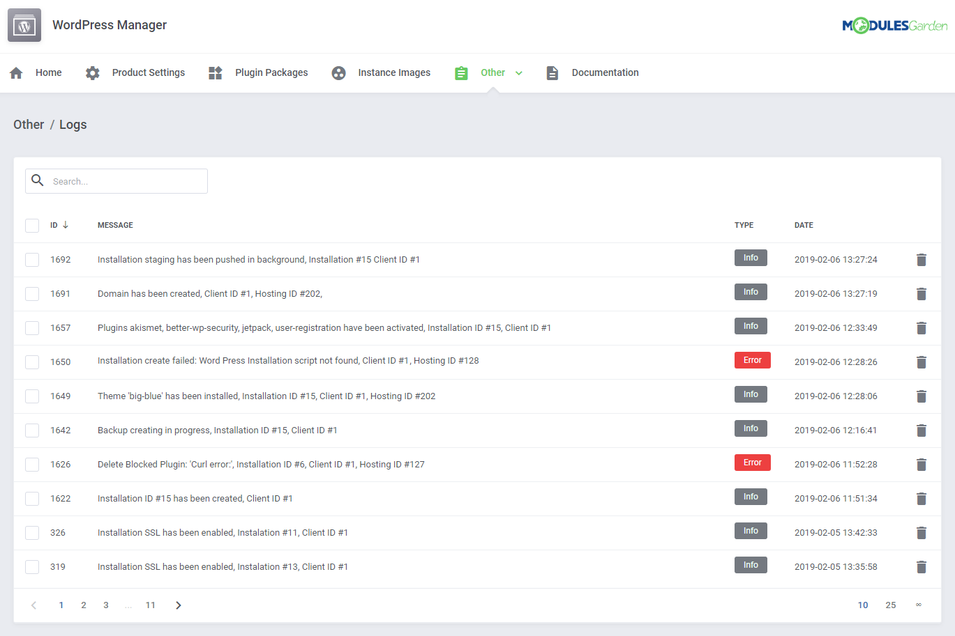 WordPress Manager For WHMCS: Module Screenshot 29