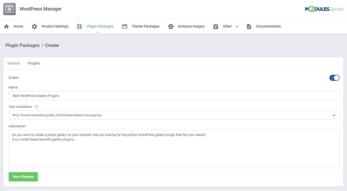 WordPress Manager For WHMCS: Module Screenshot 25