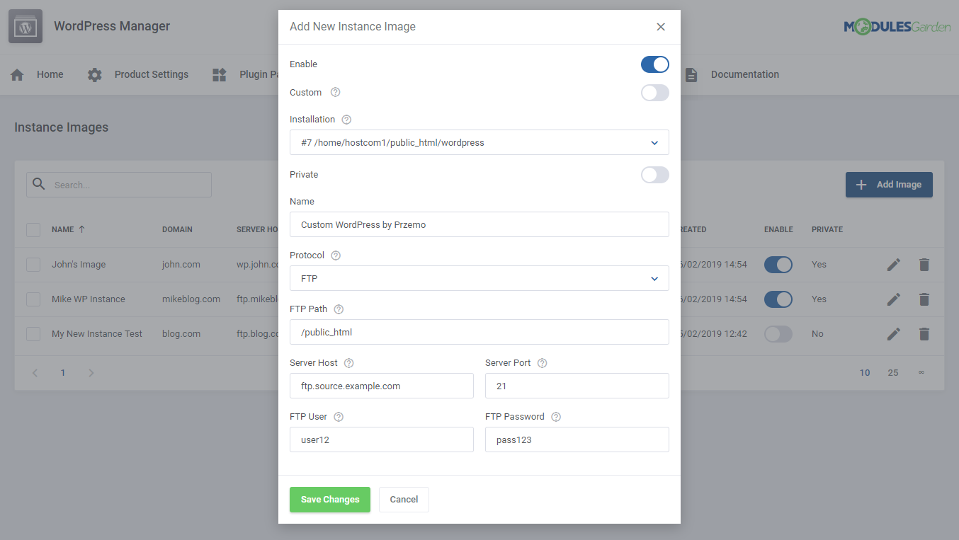 WordPress Manager For WHMCS: Module Screenshot 31
