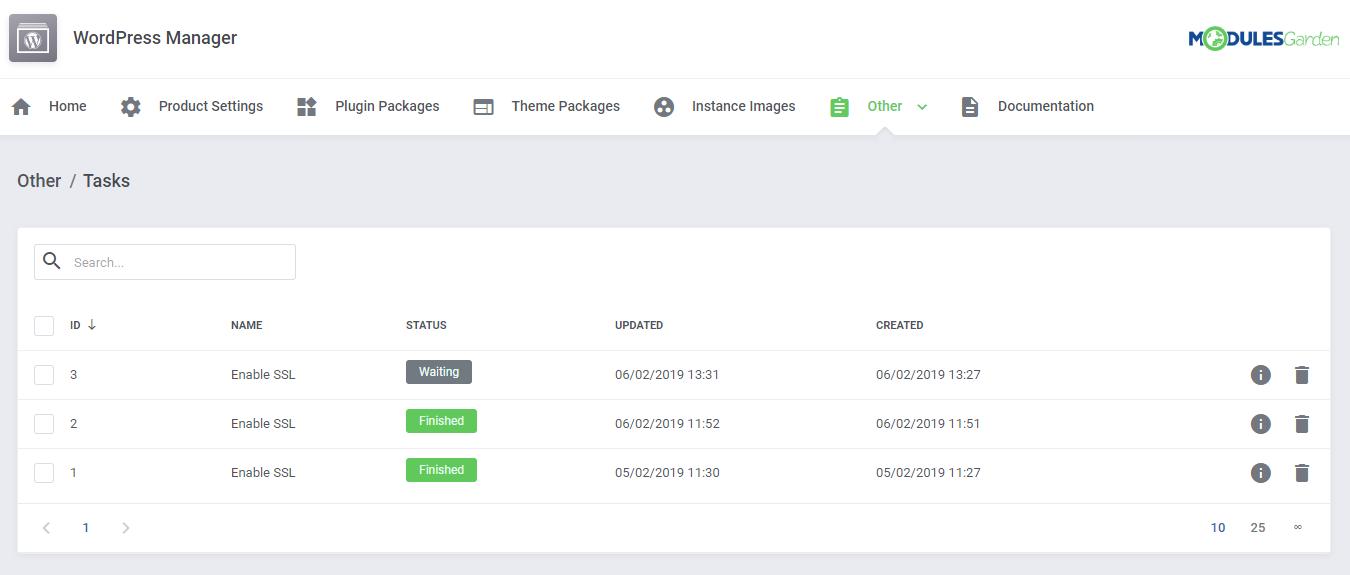 WordPress Manager For WHMCS: Module Screenshot 33