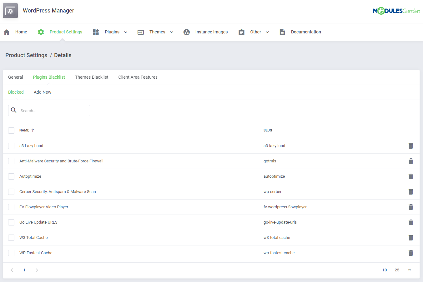 WordPress Manager For WHMCS: Module Screenshot 24