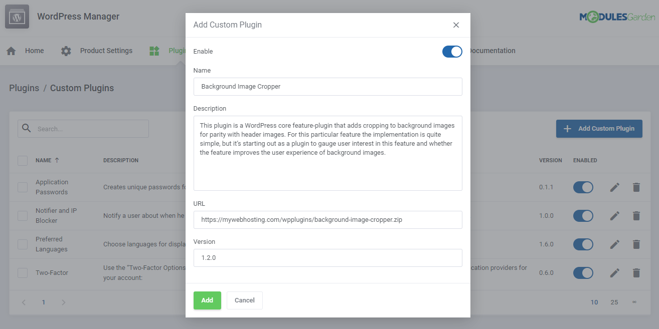 WordPress Manager For WHMCS: Module Screenshot 32