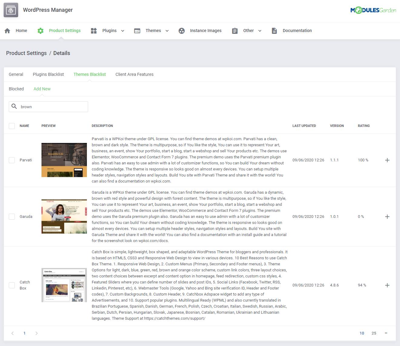 WordPress Manager For WHMCS: Module Screenshot 26
