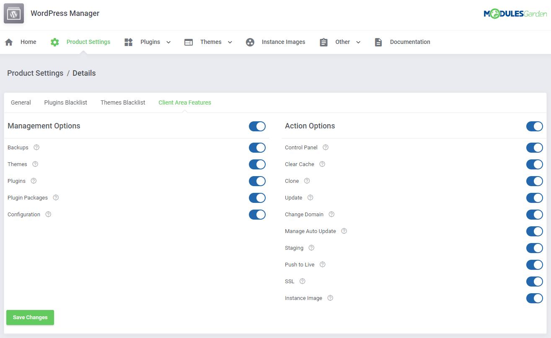WordPress Manager For WHMCS: Module Screenshot 27
