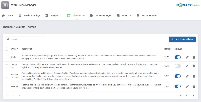 WordPress Manager For WHMCS: Module Screenshot 36