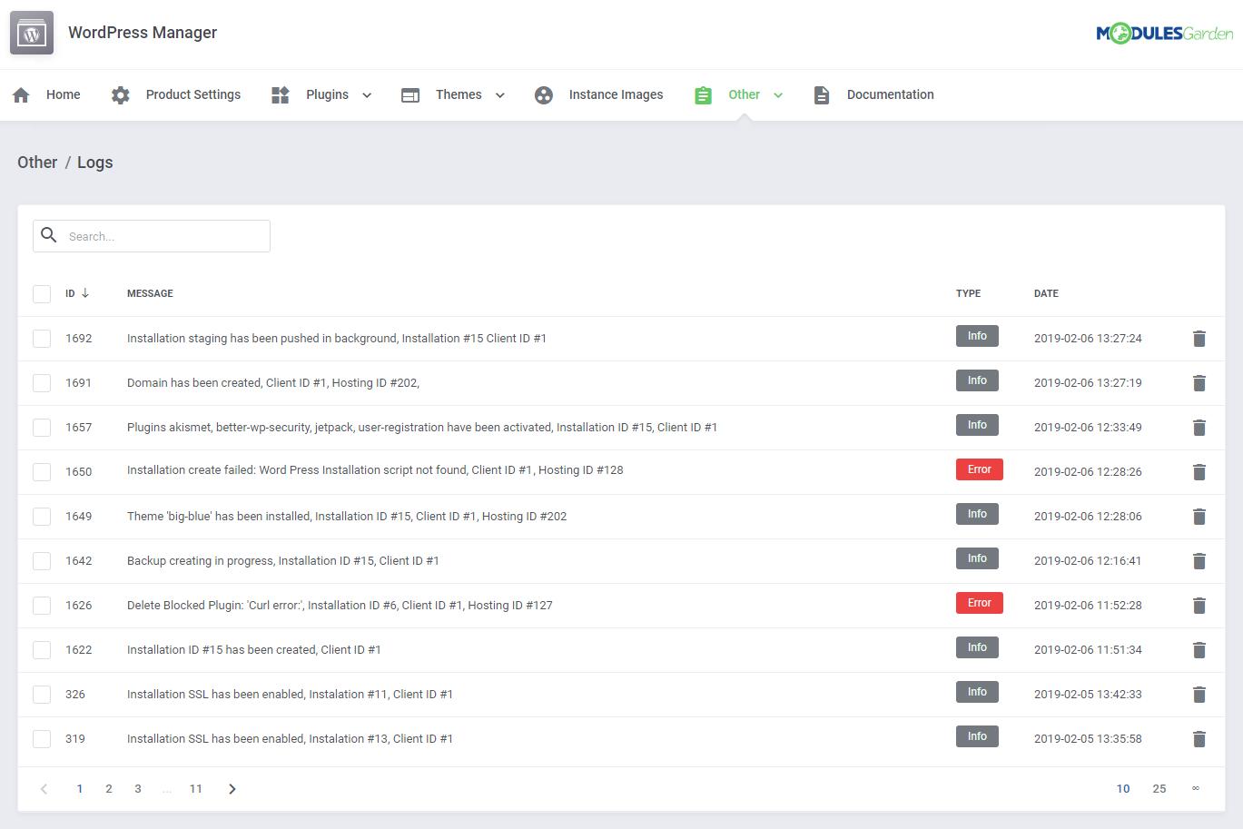 WordPress Manager For WHMCS: Module Screenshot 40