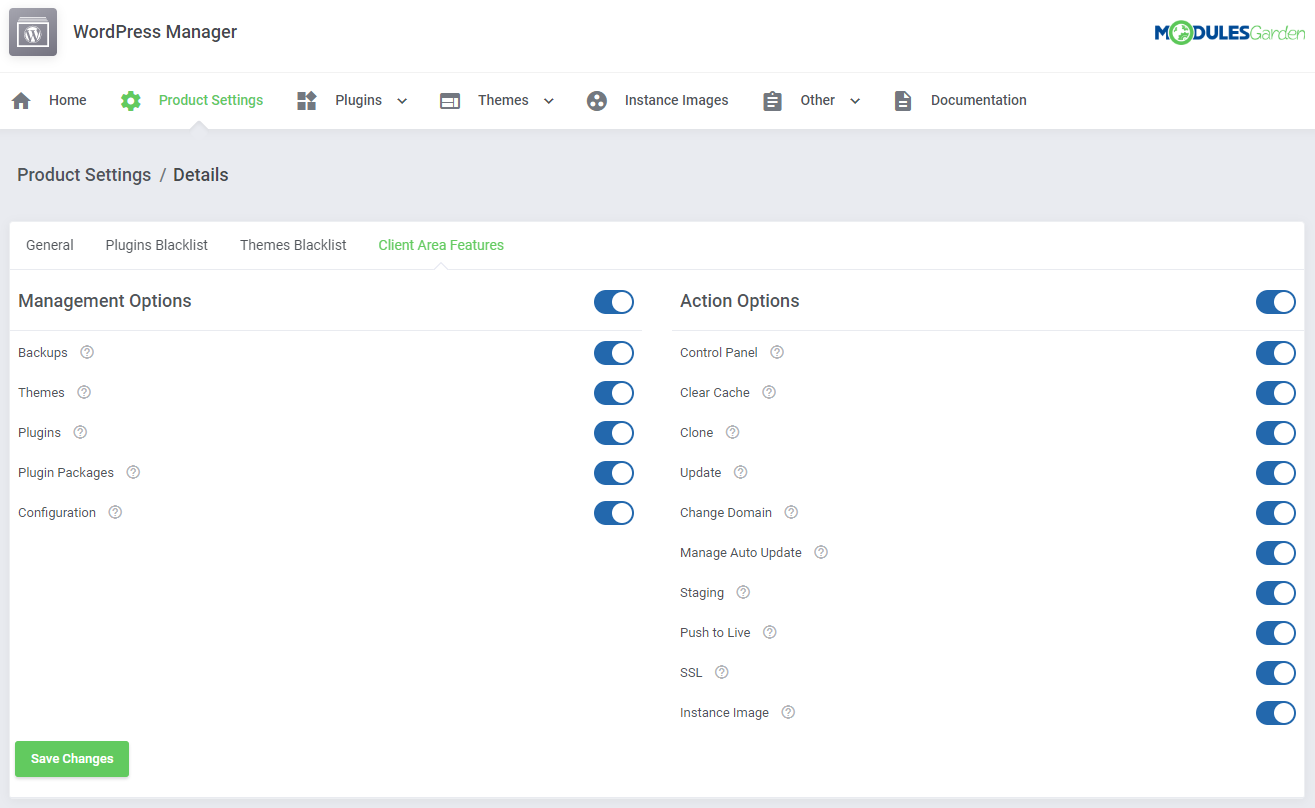 WordPress Manager For WHMCS: Module Screenshot 27