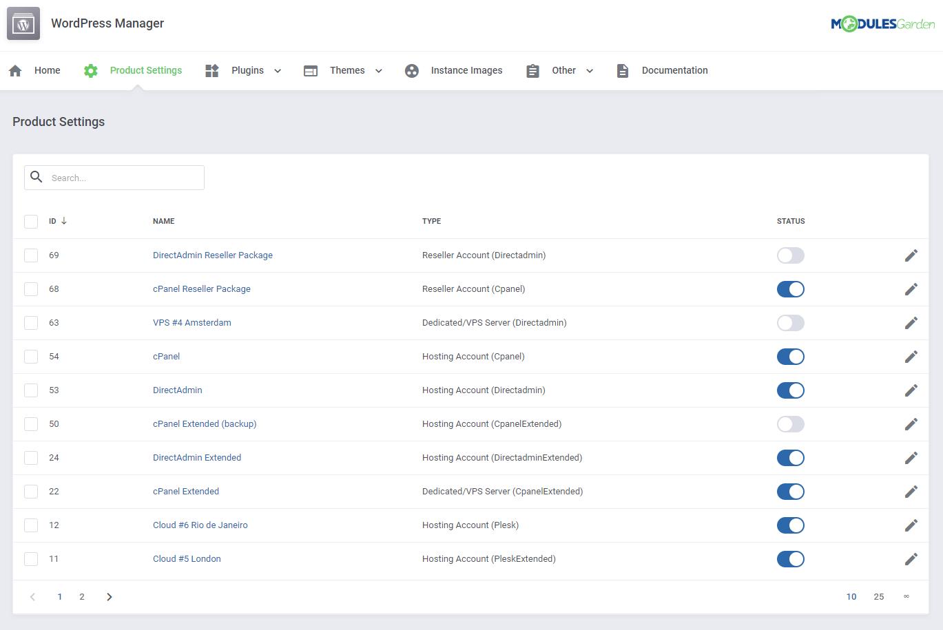 WordPress Manager For WHMCS: Module Screenshot 22
