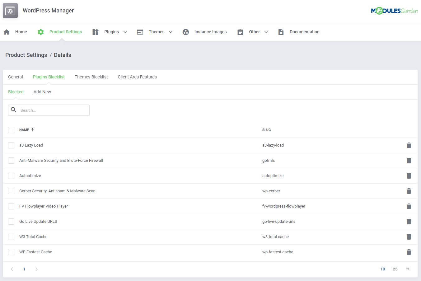 WordPress Manager For WHMCS: Module Screenshot 24