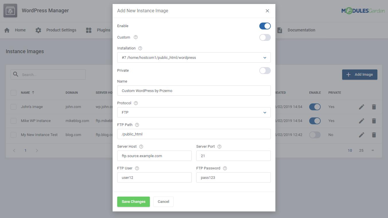 WordPress Manager For WHMCS: Module Screenshot 39