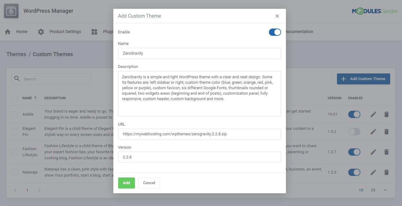 WordPress Manager For WHMCS: Module Screenshot 38