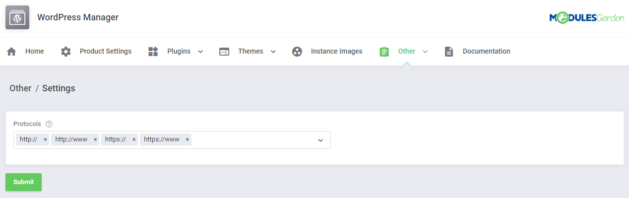 WordPress Manager For WHMCS: Module Screenshot 43