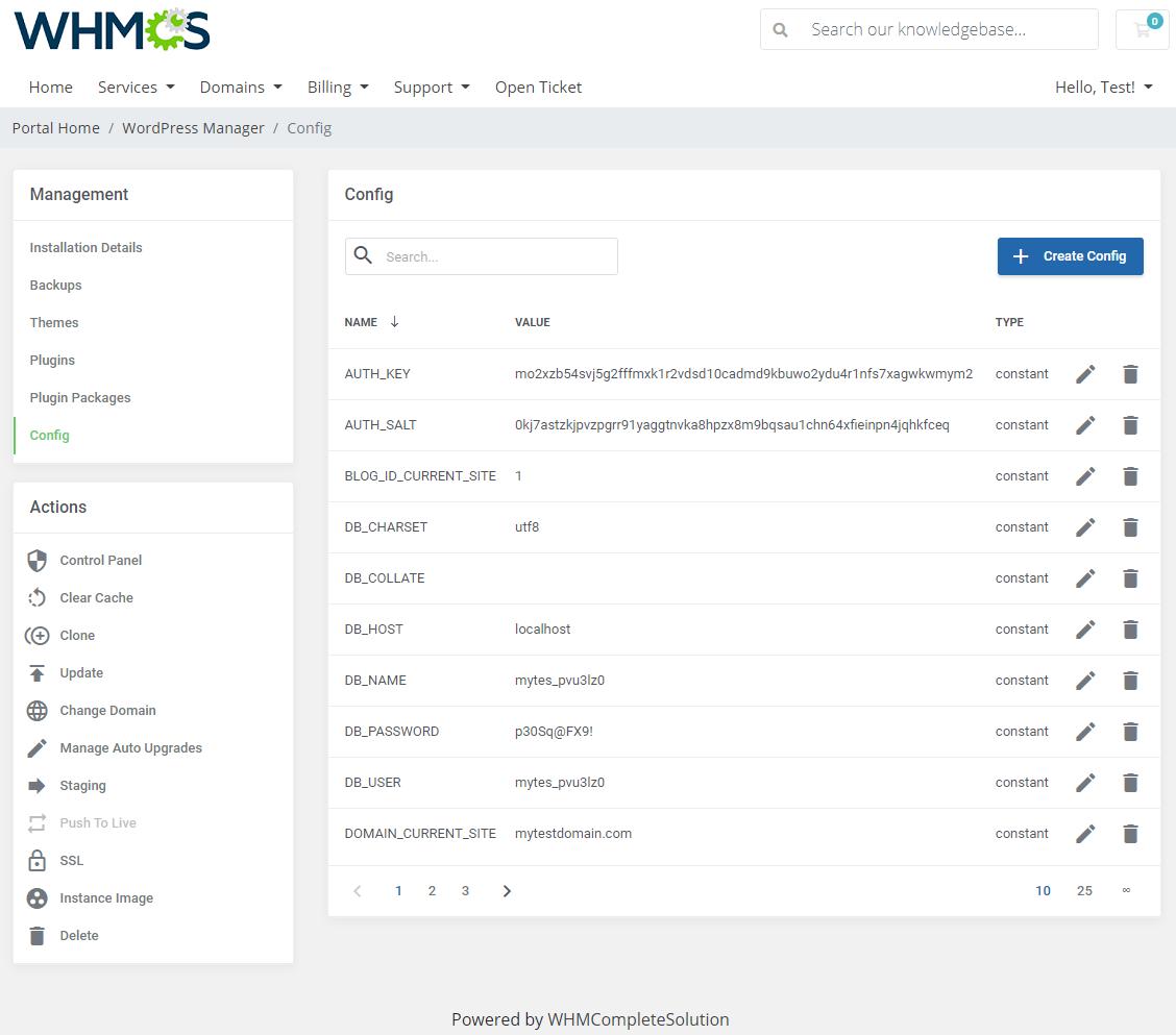WordPress Manager For WHMCS: Module Screenshot 21