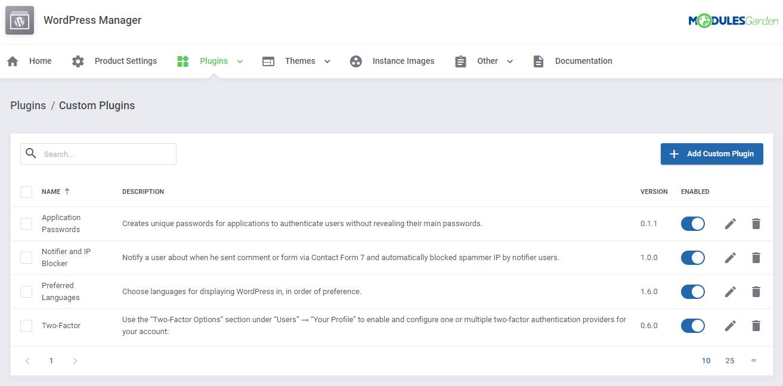 WordPress Manager For WHMCS: Module Screenshot 32