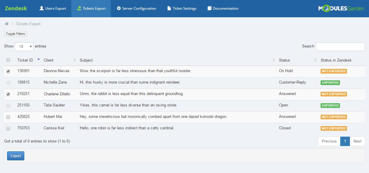 Zendesk For WHMCS: Screen 5