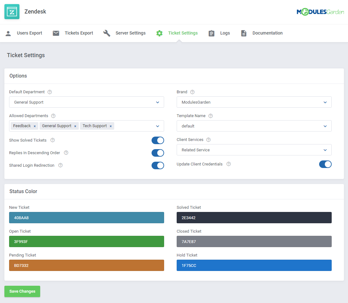 Zendesk For WHMCS: Screen 10