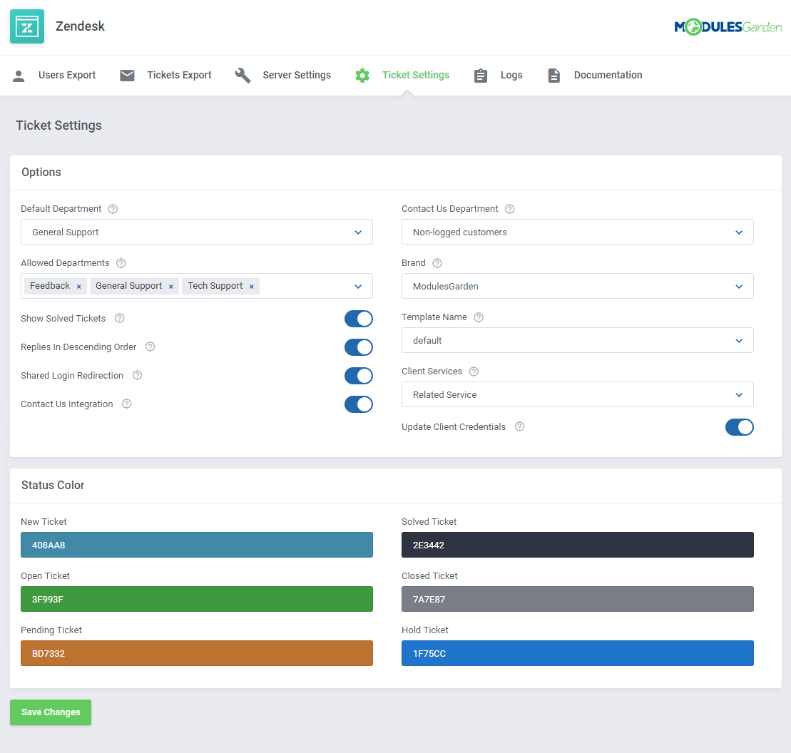Zendesk For WHMCS: Screen 11