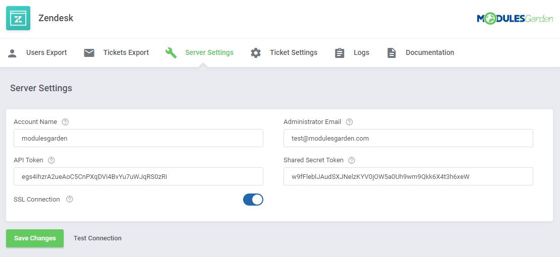 Zendesk For WHMCS: Module Screenshot 10