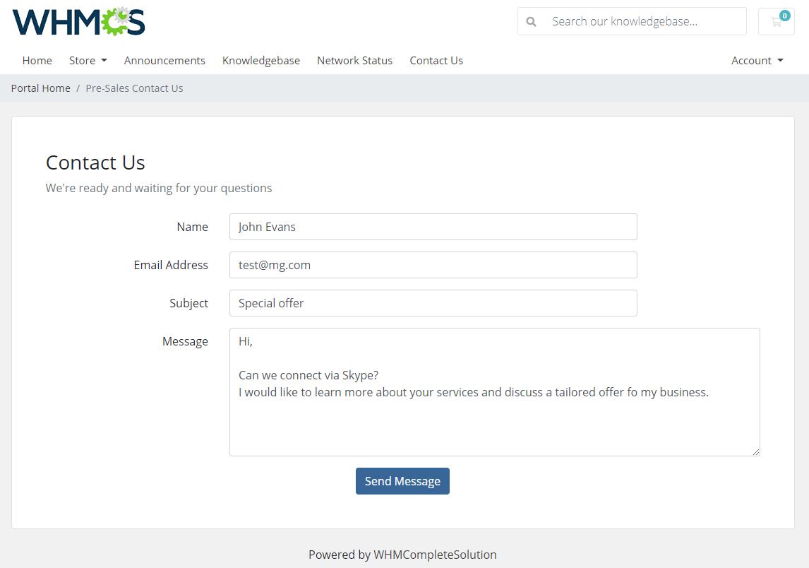 Zendesk For WHMCS: Module Screenshot 5