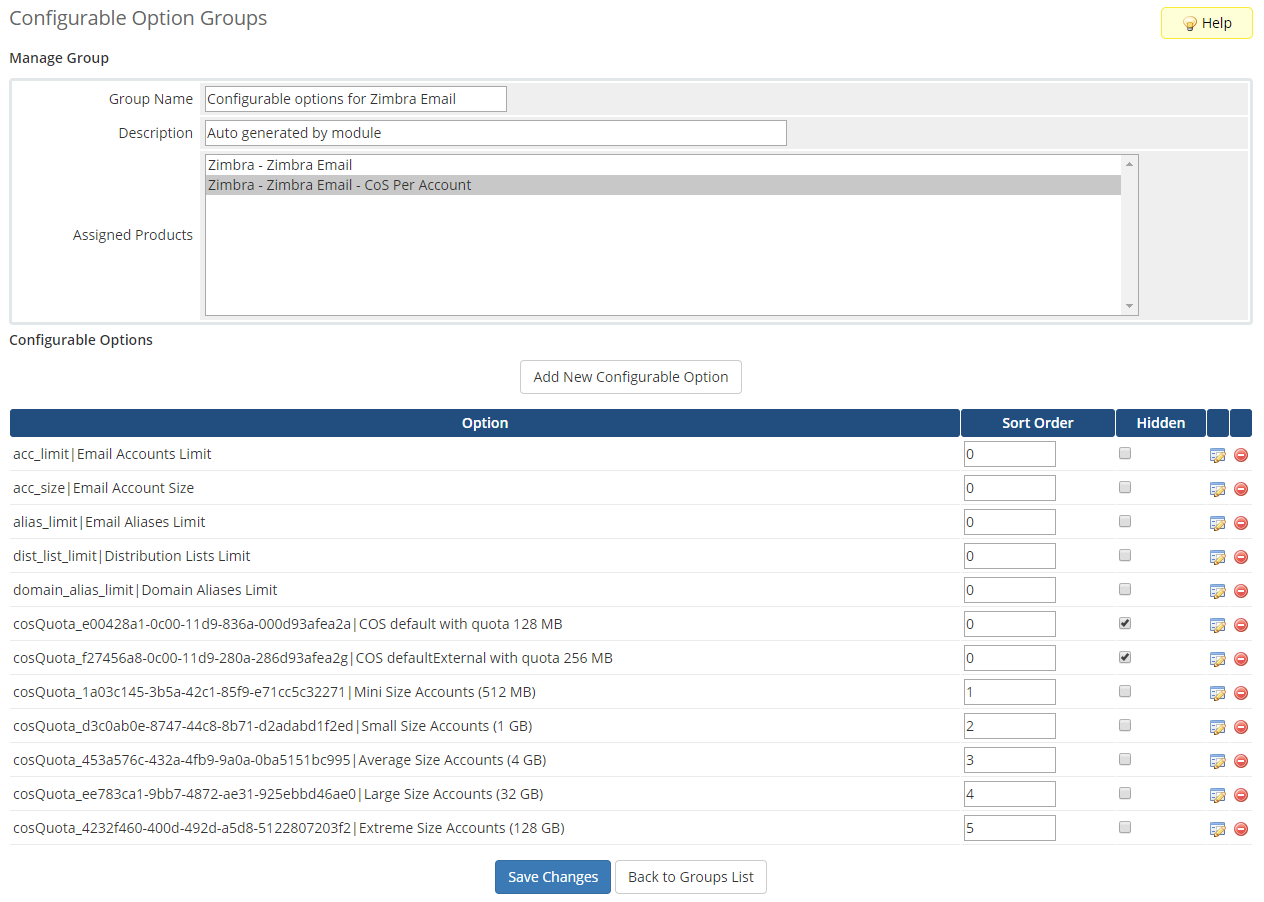 Zimbra Email For WHMCS: Module Screenshot 17