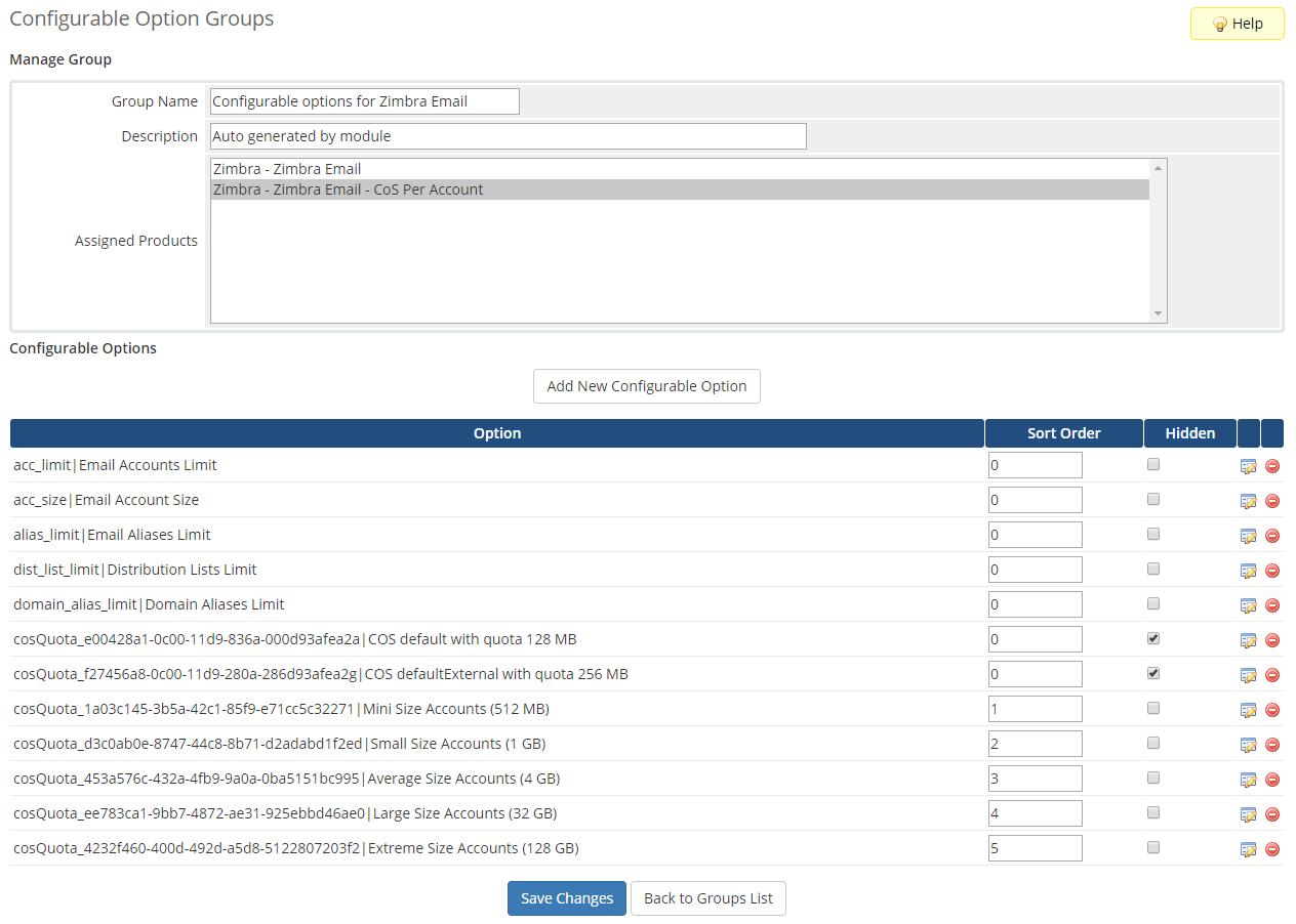 Zimbra Email For WHMCS: Module Screenshot 18
